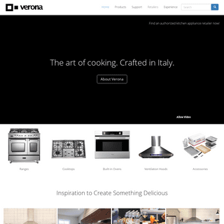 Verona Appliances - Luxury Appliances - Italian Made