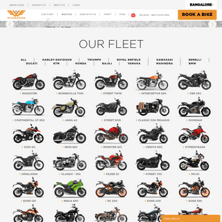 Rent a Bike in Bangalore - Wicked Ride