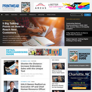 Printwear - The Screen Printing, Embroidery, and Sublimation Resource