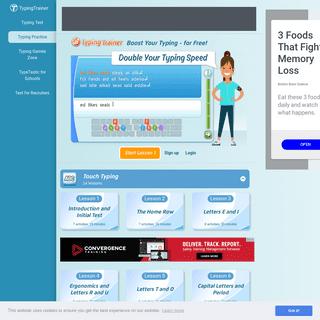 Typing Trainer Online - 100- Free Online Typing Web Tutor!