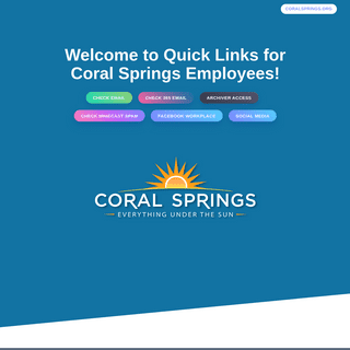Coral Springs Quick Links for Employees