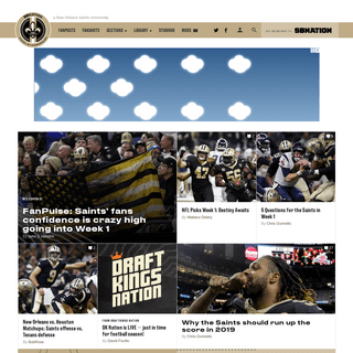 Canal Street Chronicles, a New Orleans Saints community
