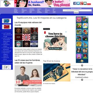 Top10.com.mx. Los 10 mejores en su categoría