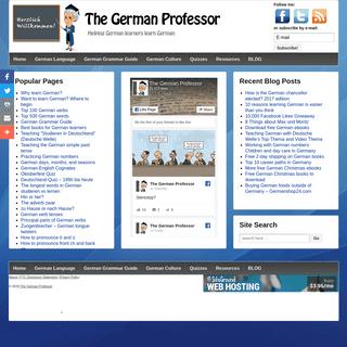 The German Professor - Helping German learners learn German
