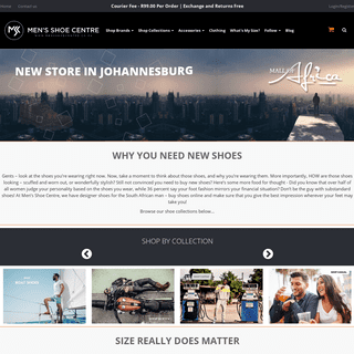Buy Men's Shoes Online in South Africa - Men's Shoe Centre
