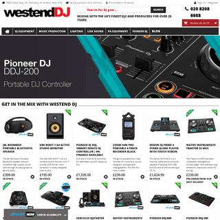 Westend DJ - DJ Equipment, Recording Studio Gear, PA Equipment and DJ Lighting from London's original DJ Kit retailer.