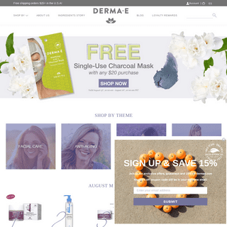 Natural Skin Care Products - Face, Body & Hair Care - Derma E