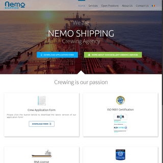 Nemo Shipping Constanta - Crewing is our Passion