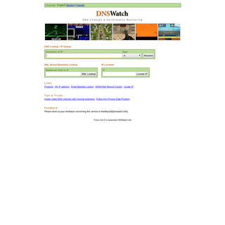 DNS Lookup tool, Reverse DNS lookup tool - www.DNSWatch.info