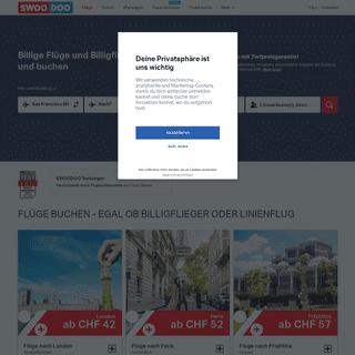 Flüge günstig buchen - Billigflüge - Flugtickets - SWOODOO