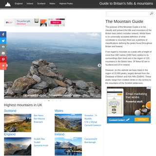 Mountains of the British Isles - UK hills & mountain Guide