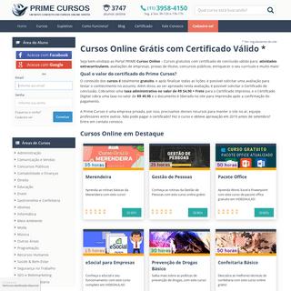 Prime Cursos Online Grátis - Cursos Gratuitos com Certificado Válido