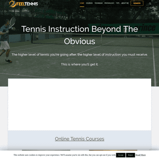 Online Tennis Lessons And Instruction Videos - Feel Tennis