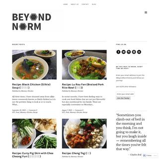 Beyond Norm
