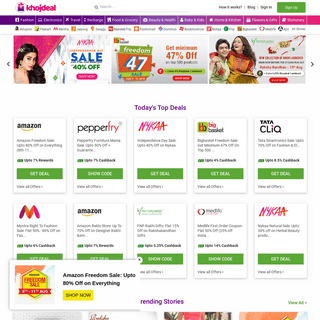 Khojdeal- Latest Coupons, Promo Codes, Offers, Deals & Cashback