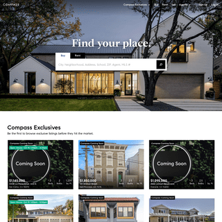 Real Estate, Homes for Sale & Apartments for Rent - Compass