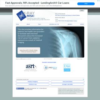 XrayRisk.com - Radiation Risk Calculator -- Calculate Radiation Dose and Cancer Risk