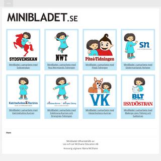 Minibladet - Läs och lär med Minja och Mino