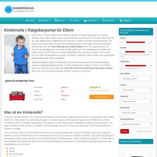 kindersofas.net - Das Infoportal zu Kindersofas, viele Sofas, großer Ratgeber