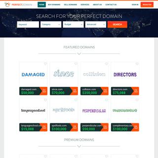 Premium Domain Names For Sale - PerfectDomain.com