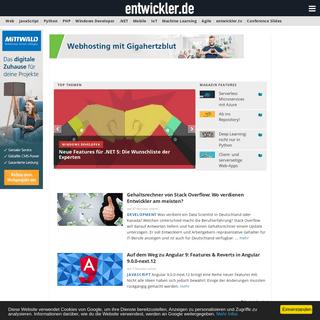 entwickler.de - IT-News für Profis - JavaScript, PHP, .NET