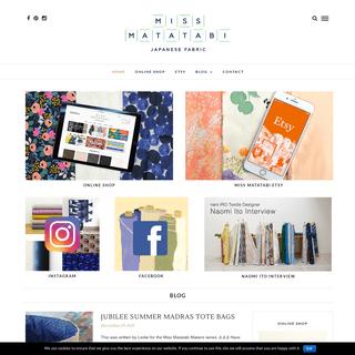 ArchiveBay.com - missmatatabi.com - MISS MATATABI blog – Japanese Fabric