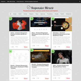 Responsive Miracle - Handpicked premium responsive website themes and templates