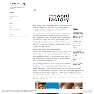ArchiveBay.com - fcwordfactory.com - fcwordfactory - Professional writing, research and analysis by an experienced tech journalist