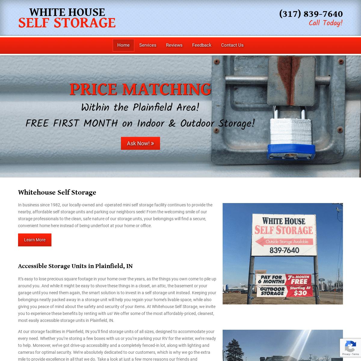 Storage Units in Plainfield, IN - Self Storage Facilities