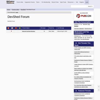 DevShed Forum- - WebmasterWorld