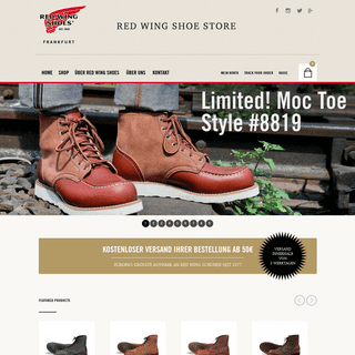 Red Wing Store Frankfurt - First Red Wing Store in Europe – since 1977