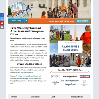 Free Walking Tours of American and European Cities