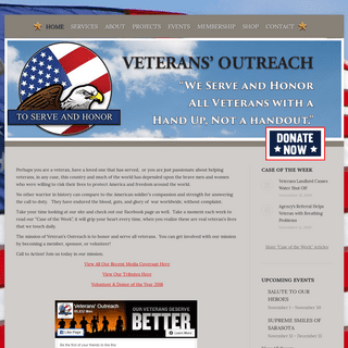 Veterans' Outreach - Non-Profit Charitable Organization