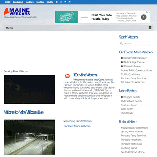 Maine WebCams [LIVE] - Portland, Moosehead, Higgins Beach...