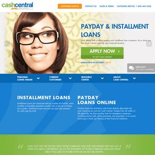 Online Lending Made Simple at Cash Central - CashCentral.com