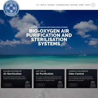 Bio Oxygen Air Purification Sterilisation Odor Control