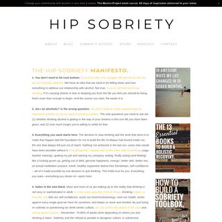 HIP SOBRIETY