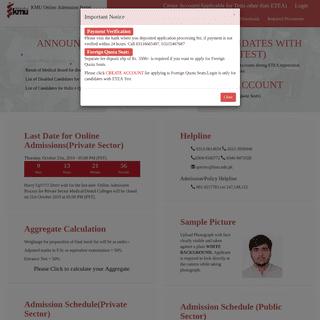 KMU Medical University Online Admission Portal