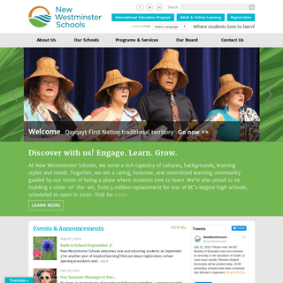 School District 40 – New Westminster - Inspiring every child's passion to learn.
