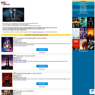 Free Direct Download Movies - Full DivX DVD Movies