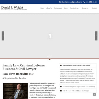 Daniel J. Wright - Family Criminal and Business Lawyer Rockville, MD