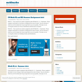 mrkburke - This is my classroom website