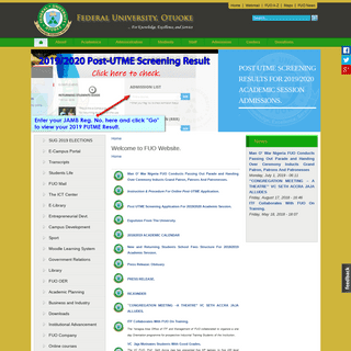 ArchiveBay.com - fuotuoke.edu.ng - Welcome to FUO Website. - Federal University Otuoke