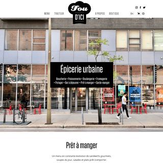 FOU D'ICI - Votre épicerie urbaine au coeur du quartier des spectacles