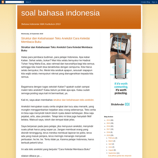 soal bahasa indonesia