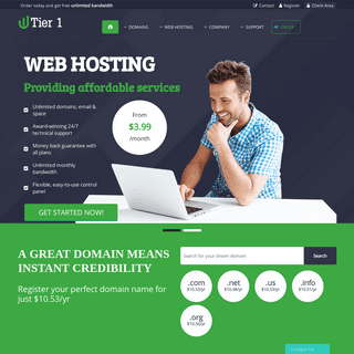 ArchiveBay.com - tier1.host - Professional Web Hosting - We provide solid web hosting & domain registration services!
