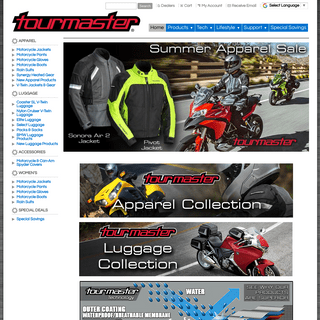 TOURMASTER Motorcycle Apparel & Gear - Home