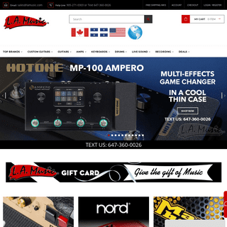 L.A. Music - Canada's Favourite Music Store! - Buy Musical Instruments Online with Confidence - L.A. Music Canada