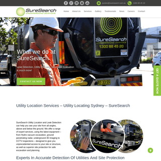 Utility Location Services - Utility Locating Sydney - SureSearch