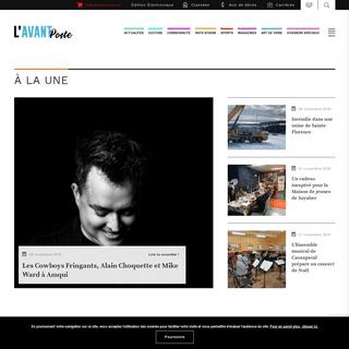 ArchiveBay.com - lavantposte.ca - L'Avant-Poste